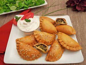 Rezept Spinat Feta Taschen lowcarb glutenfrei keto kalorienarm
