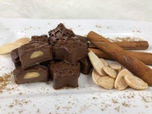 Rezept Weihnachtspralinen Schokolade Mandel-Zimt lowcarb keto