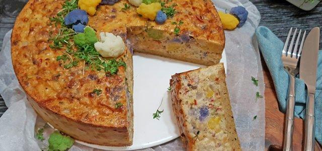Rezept Bunter Blumenkohlkuchen lowcarb keto glutenfrei