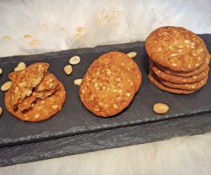 Rezept Erdnuss Karamell Cookies lowcarb keto glutenfrei