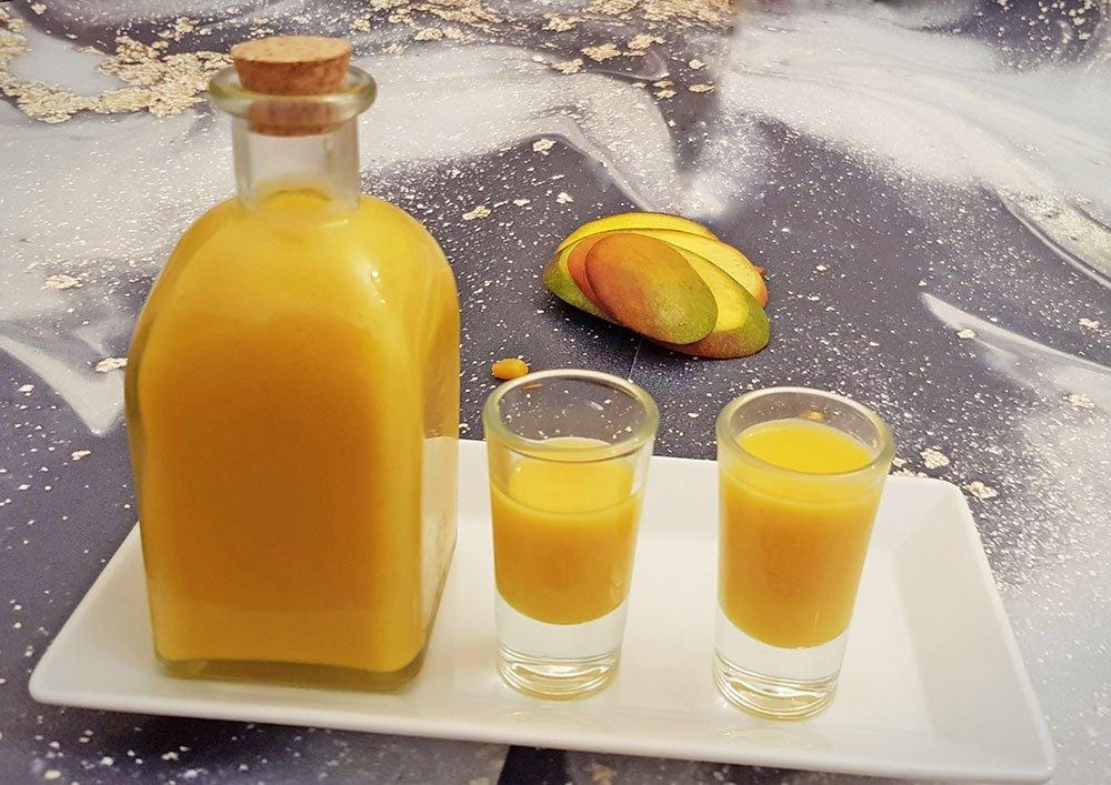 Rezept Sahne Fruchtlikör Mango lowcarb zuckerfrei