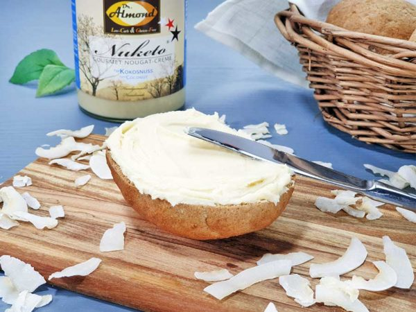 Nuketo KOKOSNUSS Gourmet Nougat-Creme low carb keto | ohne Zuckerzusatz | ohne Palmöl