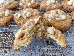 Rezept Macadamia Salz Karamell Cookies lowcarb keto glutenfrei