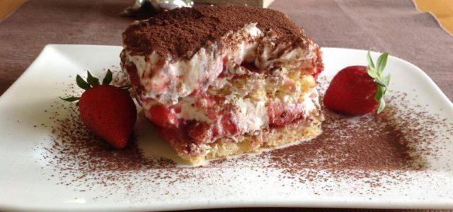Rezept Erdbeer Tiramisu lowcarb glutenfrei