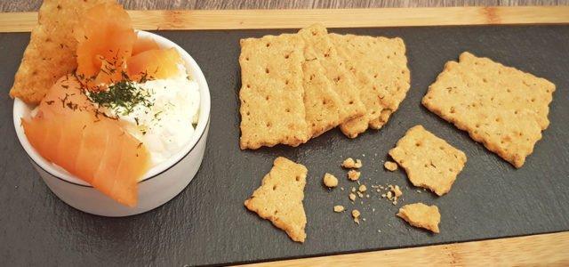 Rezept Parmesan Lachs Cracker lowcarb glutenfrei keto