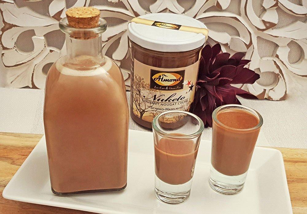 Rezept Nuketo Haselnuss Likör lowcarb zuckerfrei keto