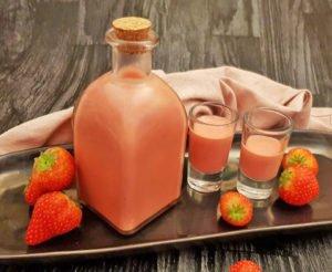 Rezept Vanillepudding Erdbeer Likör lowcarb zuckerfrei kalorienarm