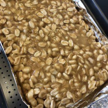 Rezept Erdnuss Karamell Riegel lowcarb glutenfrei