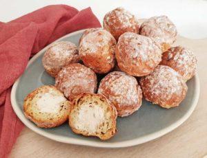 Rezept Schinken Brandteigkrapferl mit Frischkäsefülle lowcarb glutenfrei