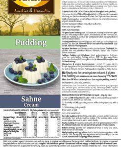 Pudding SAHNE low-carb glutenfrei keto - Puddingpulver ohne Stärke zuckerfrei laktosefrei vegan