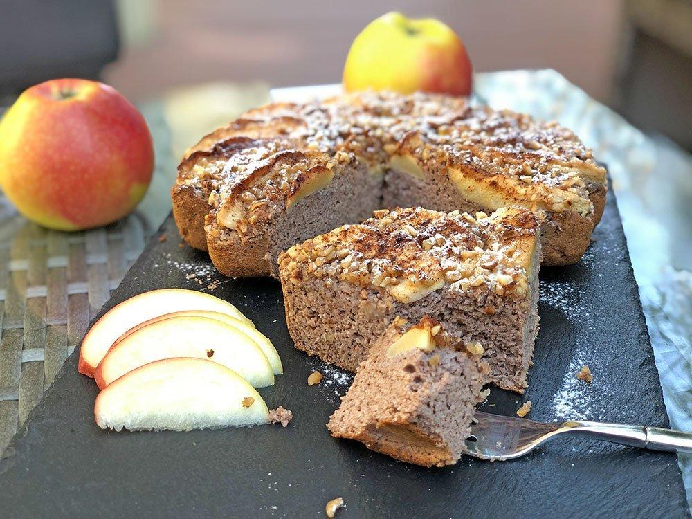 Rezept Zimt-Apfelkuchen lowcarb glutenfrei