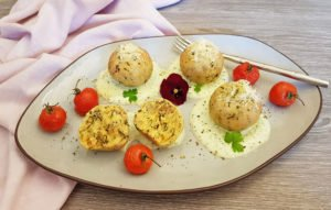 Rezept Bärlauch Parmesan Knödel lowcarb glutenfrei keto
