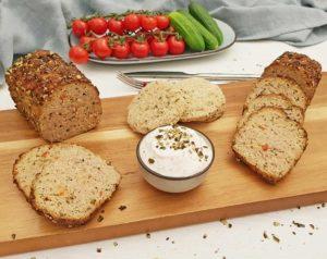 Rezept Herzhafter Hackbraten mit Kürbiskernen lowcarb glutenfrei keto