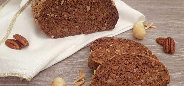 Rezept Schokoladen-Nuss-Brot lowcarb glutenfrei keto
