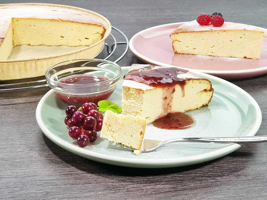 Rezept Protein-Kaesekuchen-mit-Kollagen-low-carb-zuckerfrei-glutenfrei