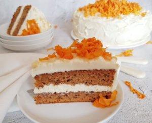Rezept Karotten Zimttorte lowcarb glutenfrei