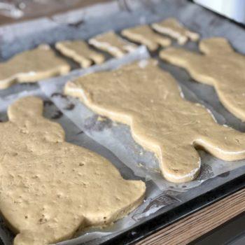 Rezept Osterhasen aus Mandelteig low carb glutenfrei keto