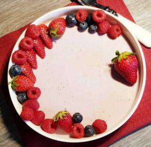 Rezept Beeren Quark Kollagenmousse lowcarb glutenfrei