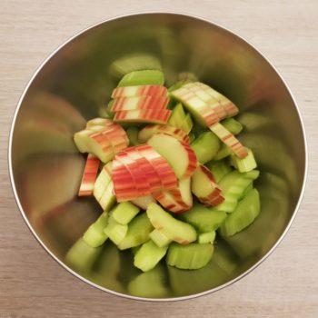 Rezept Rhabarbercreme für Torten, Desserts, Eis, Fluff lowcarb glutenfrei