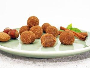 Rezept Kollagenkugeln Cookie Dough Karamell-Zimt lowcarb glutenfrei keto
