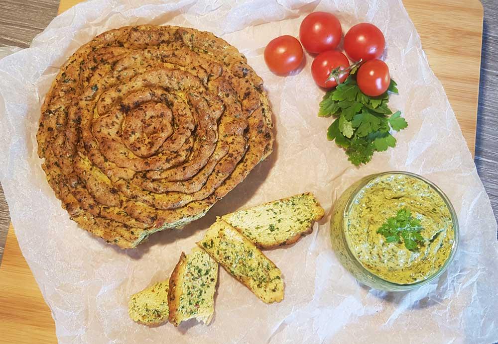 Rezept Zupfbrot lowcarb glutenfrei keto