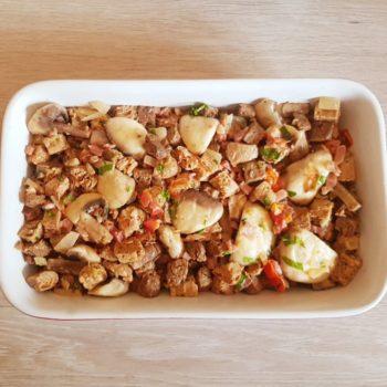 Rezept Brotwürfelauflauf lowcarb glutenfrei keto