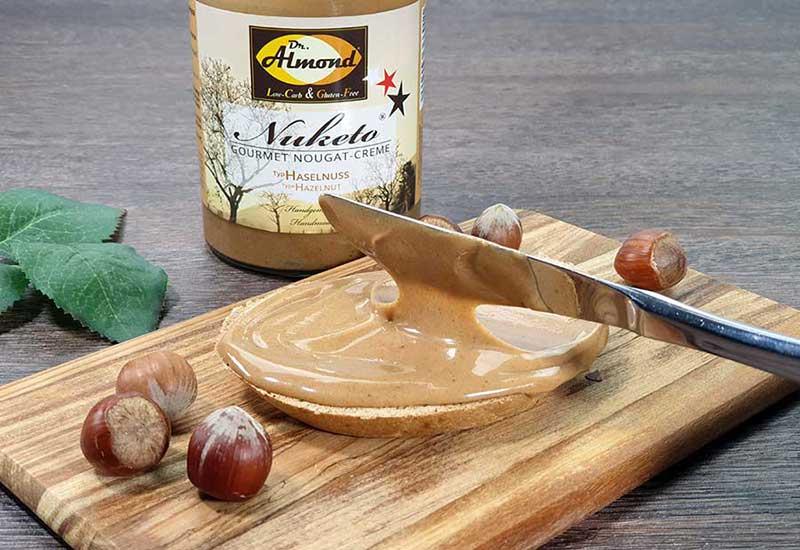 Nuketo HASELNUSS Helle Gourmet Nougat-Creme low carb | keto | ohne Zuckerzusatz | ohne Palmöl