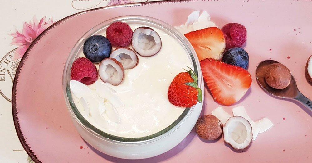 Rezept Kokos Kollagen Quarkcreme lowcarb glutenfrei