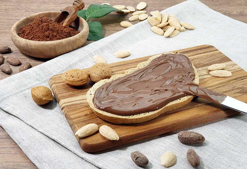 Nuketo SCHOKO-MANDEL Gourmet Nougat-Creme low carb keto | ohne Zuckerzusatz | ohne Palmöl | ohne Haselnüsse