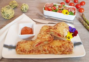 Rezept Spargel Käse Pizzastangerl lowcarb glutenfrei