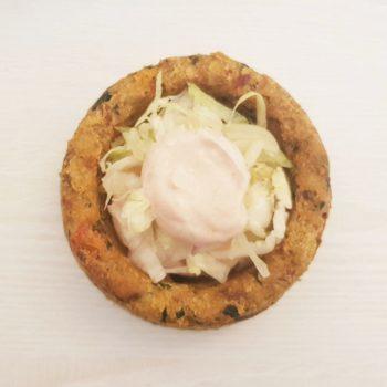 Rezept Brotküchlein gefüllt mit Joghurthähnchen lowcarb glutenfrei