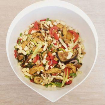 Rezept Spätzle Grillsalat lowcarb glutenfrei
