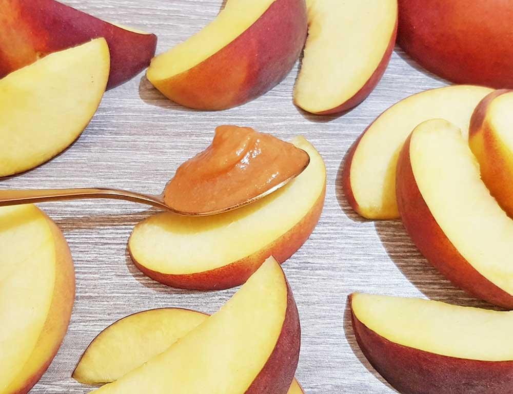 Rezept Pfirsichcreme für Torten, Desserts, Eis, Fluff lowcarb glutenfrei