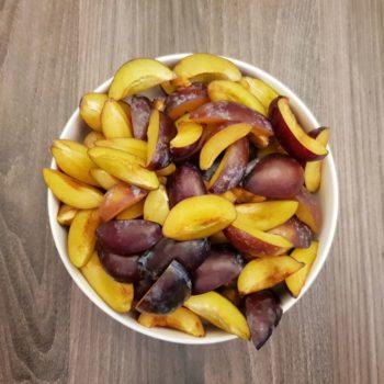 Rezept Zwetschgen-Pflaumen - Nuss Sahnequarkkuchen lowcarb glutenfrei