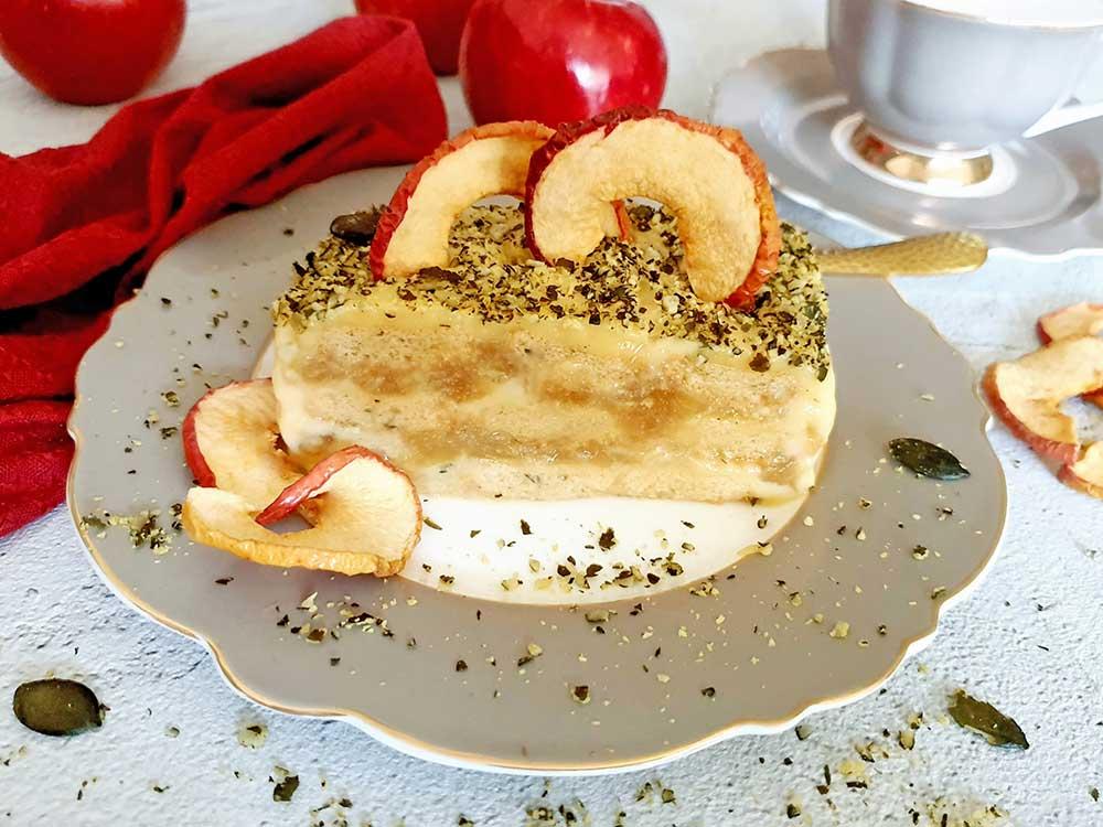 Rezept Apfeltiramisu Schnitte lowcarb glutenfrei keto