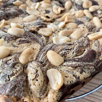 Rezept Erdnussbutter Brownies lowcarb glutenfrei keto