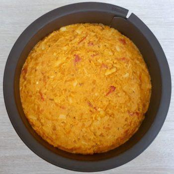 Rezept Hüttenkäse Kürbis Schichtkuchen lowcarb glutenfrei