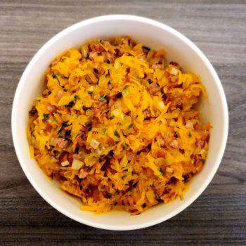 Rezept Rösti mit Kürbis und Speck lowcarb glutenfrei