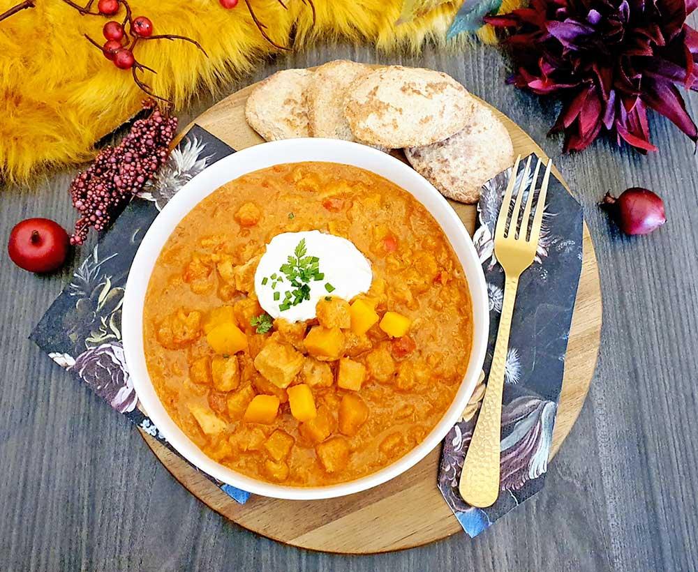 Rezept Kürbis Chicken Harissa lowcarb glutenfrei