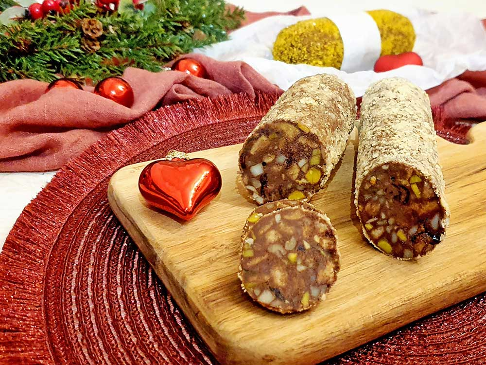 Rezept Dr. Almond Schokoladensalami lowcarb keto glutenfrei