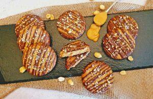 Rezept Salted Caramel Peanut Cookies lowcarb glutenfrei keto