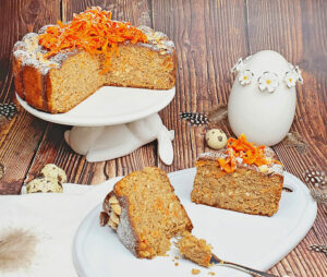Rezept Haselnuss Karamell Karottenkuchen lowcarb glutenfrei keto