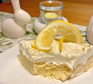 Rezept Schnelle Zitronenschnitte lowcarb glutenfrei keto