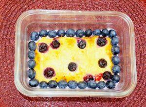 Rezept Heidelbeere Zitrone Kuchenbowl lowcarb glutenfrei