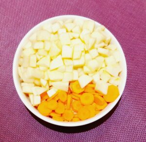 Rezept Karotten-Apfel-Orangen Karamellcreme lowcarb