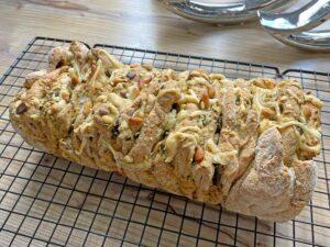 Rezept Zupfbrot mit Kräuterbutter lowcarb glutenfrei keto