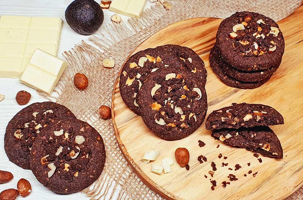 Rezept Schoko Nuss Soft Cookies lowcarb keto glutenfrei