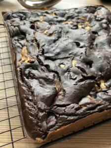 Rezept Brownie-Cheesecake-Kirsch-Schnitte lowcarb kalorienarm glutenfrei keto