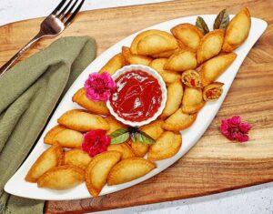 Rezept Pfifferling - Eierschwammerl Taschen lowcarb keto glutenfrei