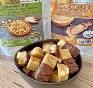Rezept Nuss-Salz-Karamell-Bites lowcarb keto glutenfrei